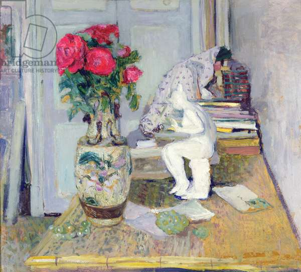 Statuette by Maillol and Red Roses, c.1903-05 (oil on board)