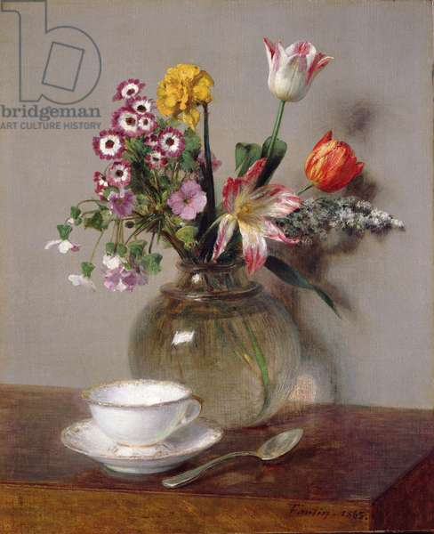 Spring Bouquet, 1865 (oil on canvas)