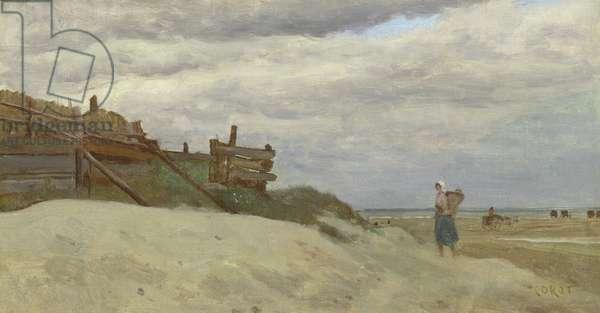 The Beach at Dunkirk, 1857 (oil on canvas)