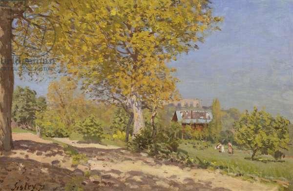 Near Louveciennes, 1872 (oil on canvas)