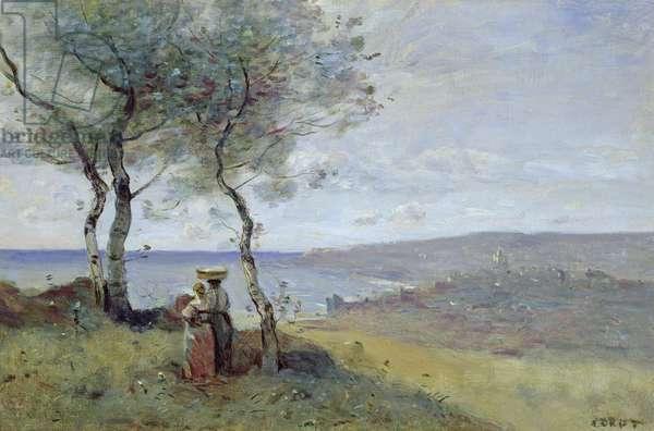 Souvenir of St. Jean de Luz, 1872 (oil on canvas)