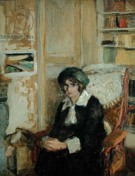 Lucie Belin at the Artist's Home, 1912 (oil on board)