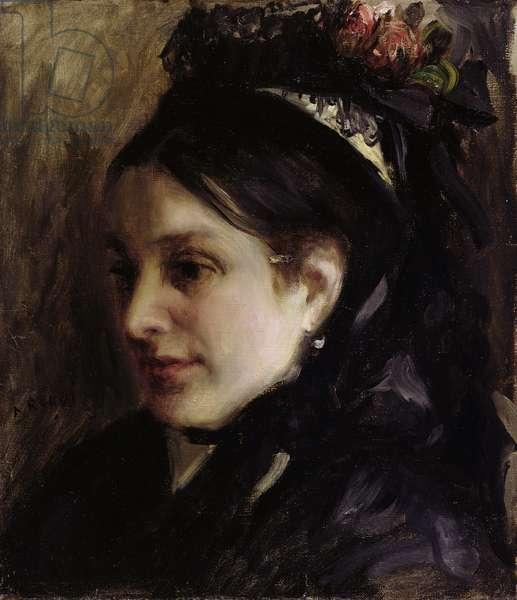 Portrait of Rapha Maitre, 1870 (oil on canvas)
