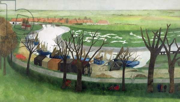 Low Tide Near Rye (w/c on paper)