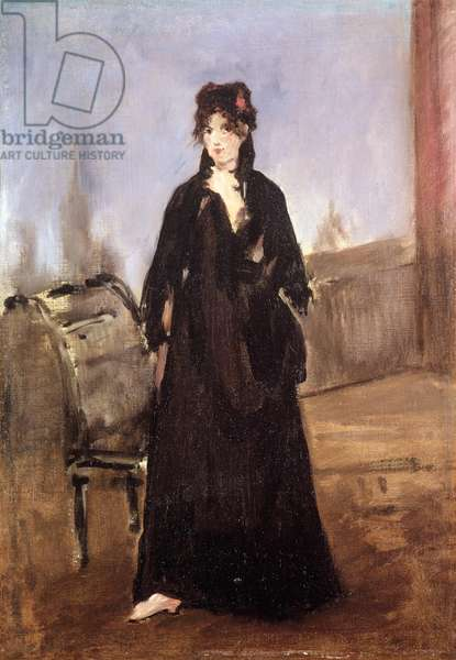 Portrait of Berthe Morisot (1841-95) in Pink Shoes, 1872 (oil on canvas)