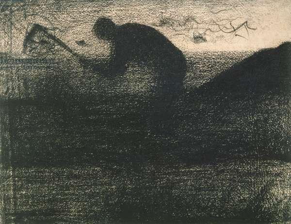 Man with a Pick, c.1883 (crayon conte)