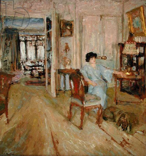 Madame Hessel in her Salon, 1910 (oil on board laid down on cradled panel)