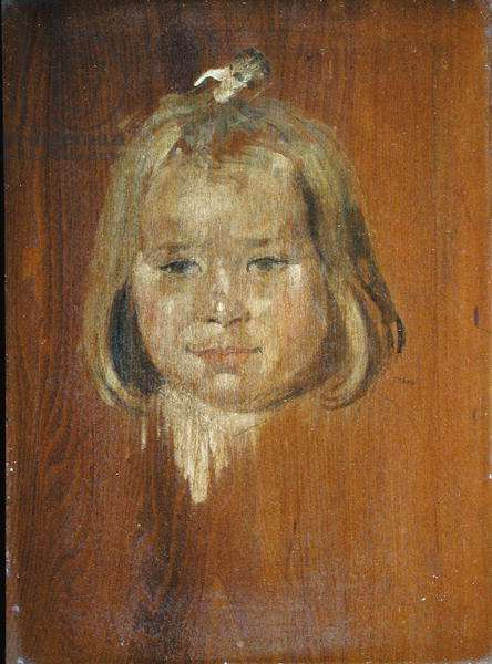 Vivien at Two Years Old (oil on board)
