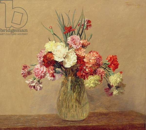 A Bouquet of Carnations, 1890 (oil on canvas)