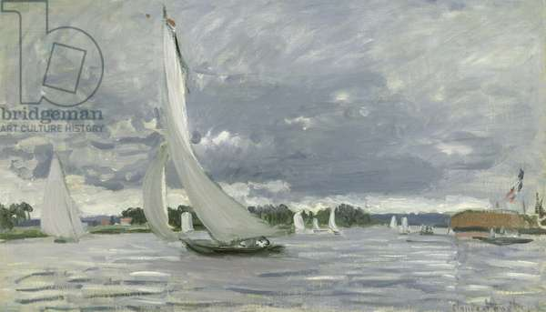 Regatta at Argenteuil, 1872 (oil on canvas)