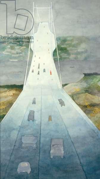 The Forth Bridge, 1974-75 (w/c on paper)