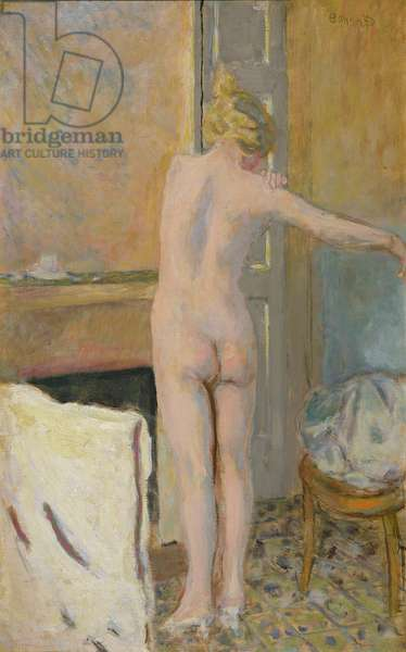 Nude in front of a Mantelpiece (oil on canvas)