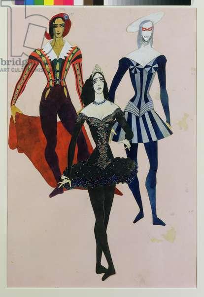 Costume design for Don Juan, 1948 (w/c on paper)