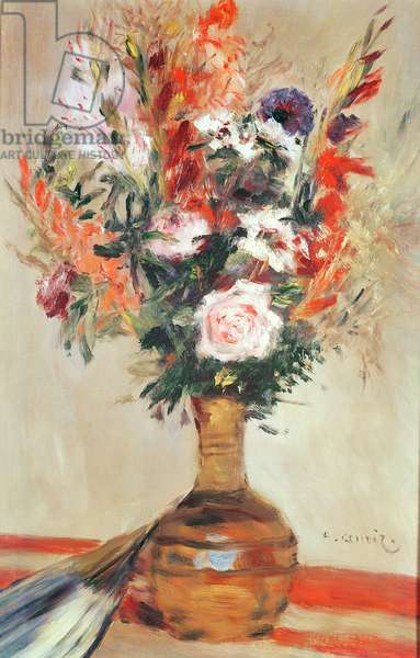 Roses in a Vase, 1872 (oil on canvas)