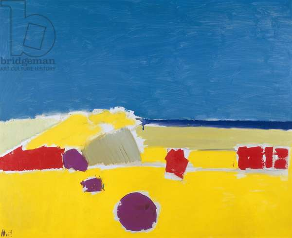 The Beach at Agrigento, 1954 (oil on canvas)