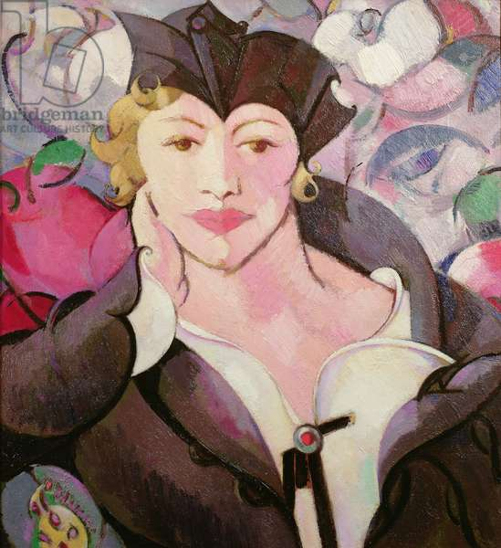 Rose Rhythm (Portrait of Kathleen Dillon) 1916 (oil on canvas)