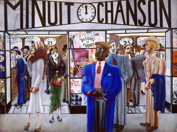 Minuit Chanson, 1931 (w/c heightened with bodycolour)