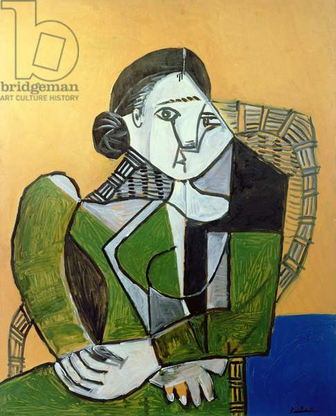 Woman Seated in an Armchair, 1953 (oil on wood)