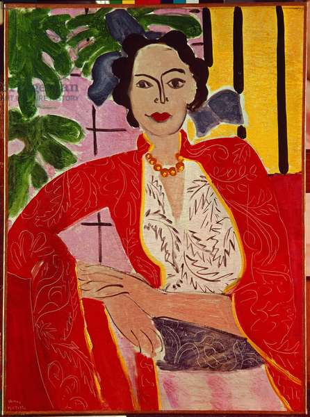 Woman with a Pearl Necklace, 1937 (oil on canvas)