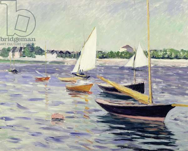 Sailing Boats at Argenteuil, 1891 (oil on canvas)
