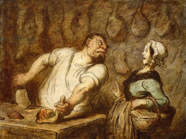 The Butcher, Montmartre Market, c.1857-58 (oil on panel)