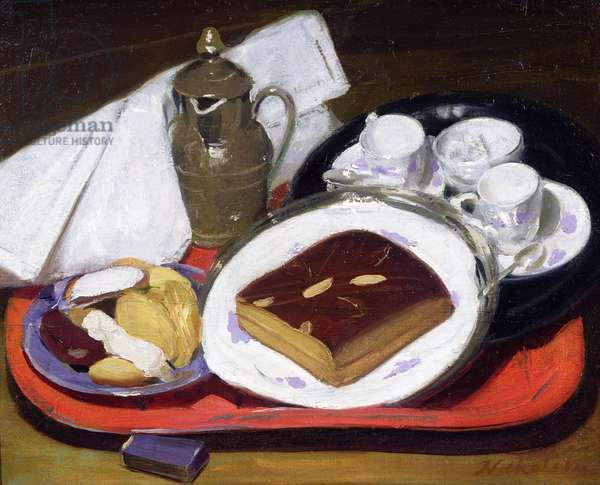 Pain d'Epice, or Cake for Tea, 1919 (oil on canvas mounted on board)