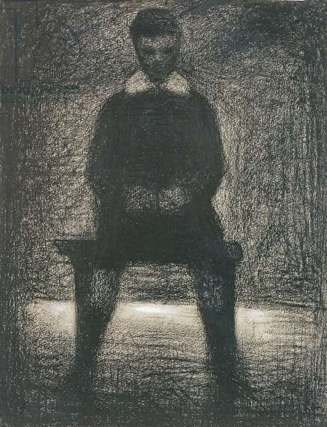 Maurice Appert Seated, c.1886-88 (conte crayon and gouache on paper)