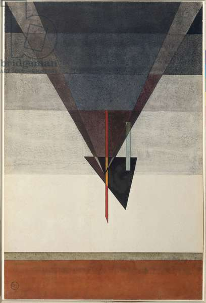 Descent, 1925 (gouache and mixed media on paper)