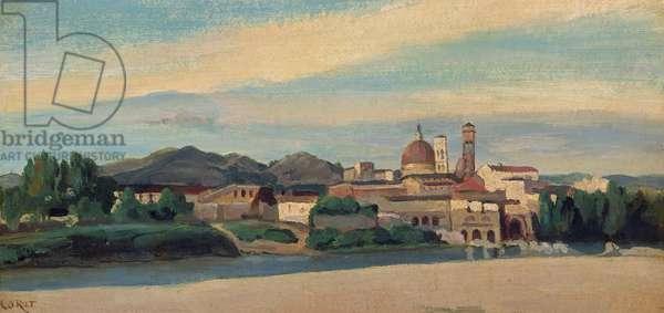 View of an Italian Village (oil)