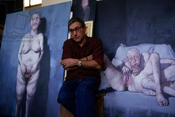 Jean Rustin, french painter, c.1987 (photo)