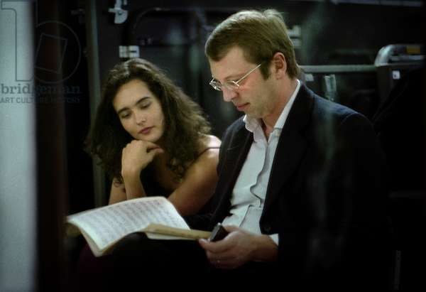 Performer & Conductor Reading Score Backstage (photo)