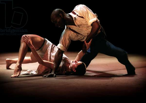 Ballet Rambert production of 'Grinning in your Face' with Miranda Lind & Paul Libert Solo, 2001
