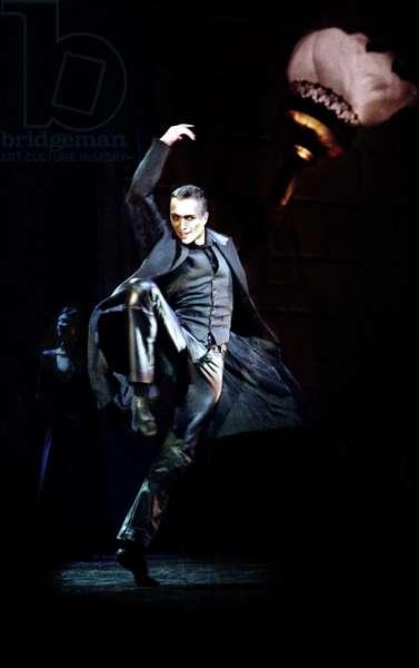 Matthew Ball, as the Black Swan in Matthew Bourne's 'Swan Lake' at Sadler's Wells (photo)