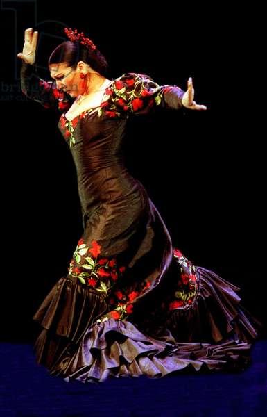 Milagros Mengibar dancing flamenco