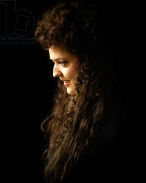 Portrait of Opera Singer Anya Kubrick Daughter of Film Director Stanley Kubrick (photo)