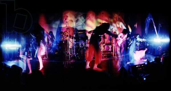 Hawkwind during a live performance of Space Ritual (photo)