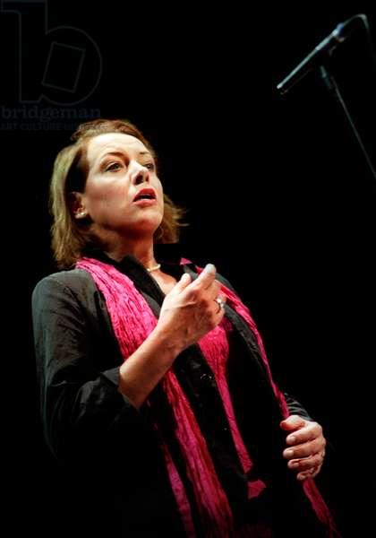 Nina Stemme (soprano) rehearsing