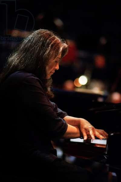 Martha Argerich rehearsing