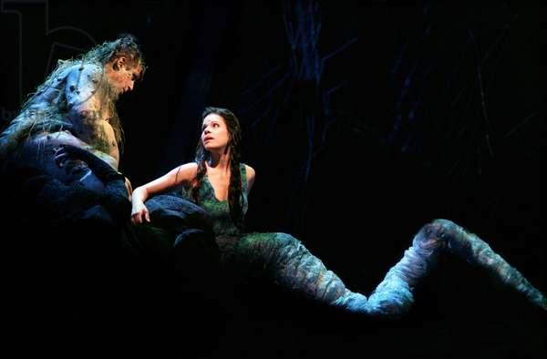 Mischa Schelomianski as Vodnik and Ana María Martínez as Rusalka in Dvorak's opera 'Rusalka', new production for Glyndebourne Festival 2009
