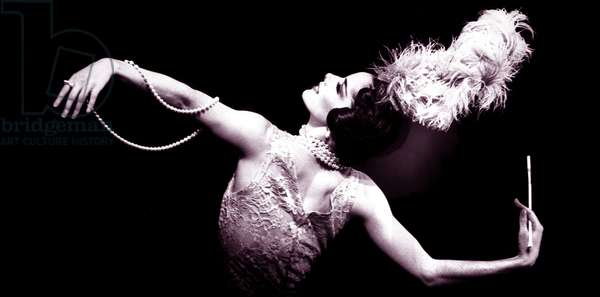 Darcey Bussell performing in 'Les Biches' (b/w photo)