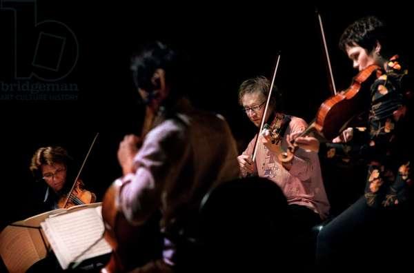 Arcanto Quartet - rehearsing Berg and Schubert