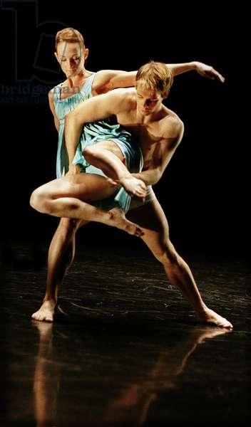 Angela Tower and Martin Joyce in the London premiere of 'Eternal Light', Mark Baldwin 's new work for the Rambert Dance Company, 2008