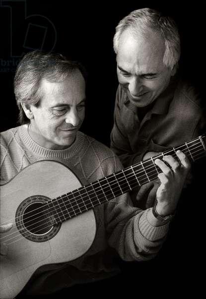 Guitar Virtuosi - Composers Paco Pena & John Williams ( Right ) (b/w photo)