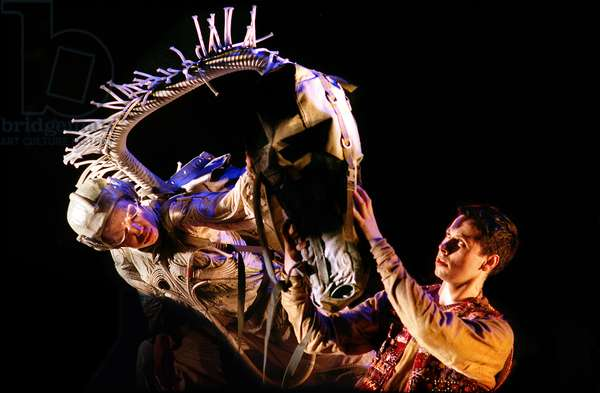 Laura Caldow as Winged Horse and Christopher Marney as