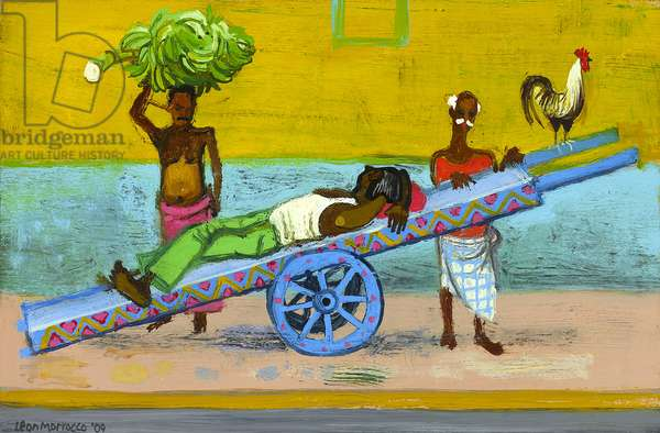 Banana-Wallah, Crawford Market (oil on panel)