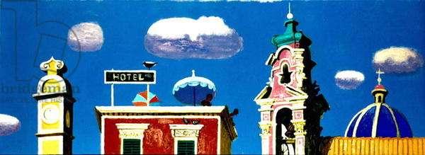 Skyline Sicily I (oil on canvas) (see 216393)