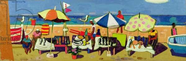 Beach Scene, 1998 (oil on canvas)