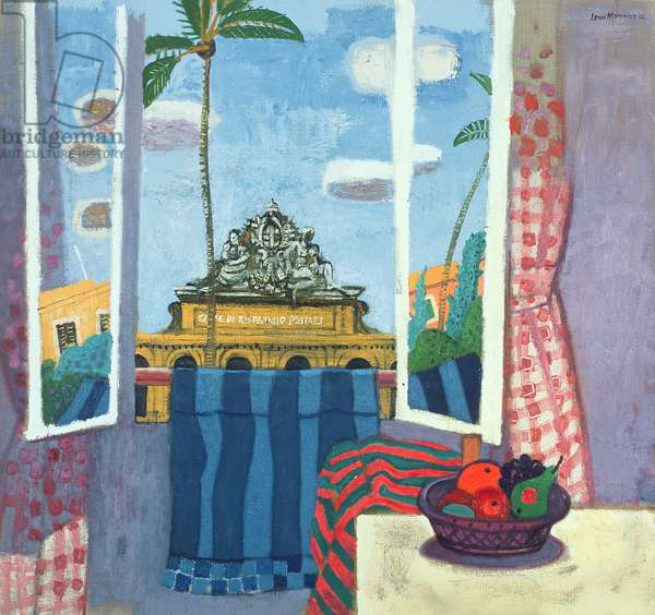 View from Window, Plazza Dante, 2003 (oil on canvas)