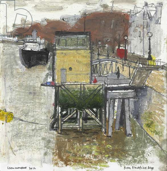 Study from Blackfriars Bridge, Autumn, 2012 (pastel and pencil on paper)