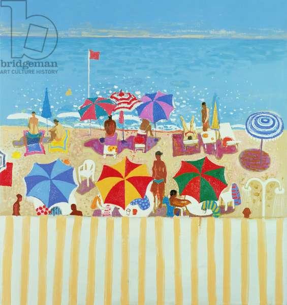 The Beach at Nice (oil on canvas)